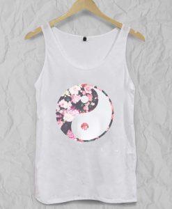 yin yang flower Adult tank top