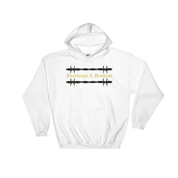 Post malone beerbongs and bentleys barb wire hoodie