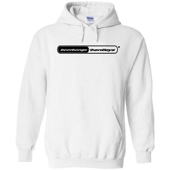 Post malone beerbongs and bentleys black logo hoodie