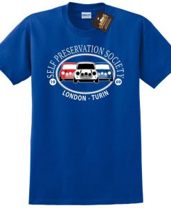 Self Preservation Society T-shirt - Inspired By Italian Job Mini Cars Film NEW - Mens & Ladies Styles - Movie tshirts