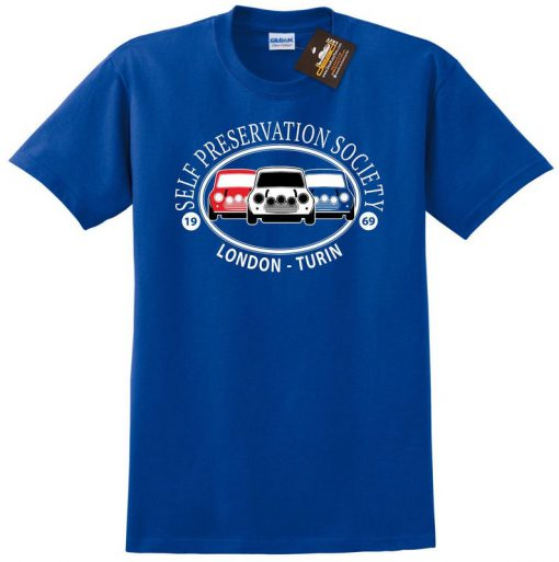 Self Preservation Society T-shirt – Inspired By Italian Job Mini Cars Film NEW – Mens & Ladies Styles – Movie tshirts