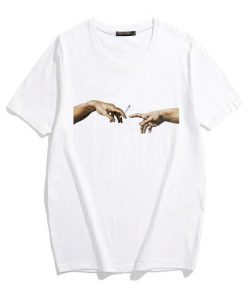The Creation of Adam Passing Joint Michelangelo Sistine Chapel T-Shirt