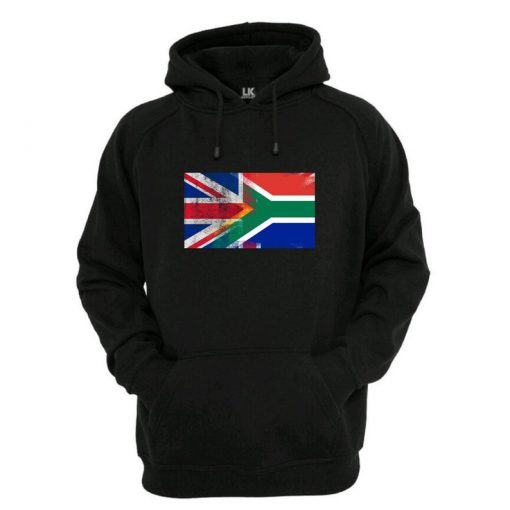 England UK and South Africa Flag Hoodie