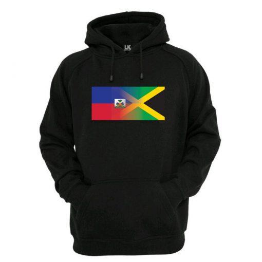 Haitain Jamaican Blended Flag Hoodie