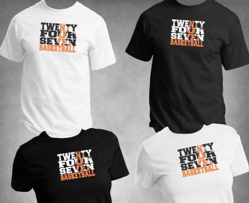Twenty Four Seven Basketball Tshirt