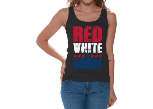 Red White & Booze Tank Top