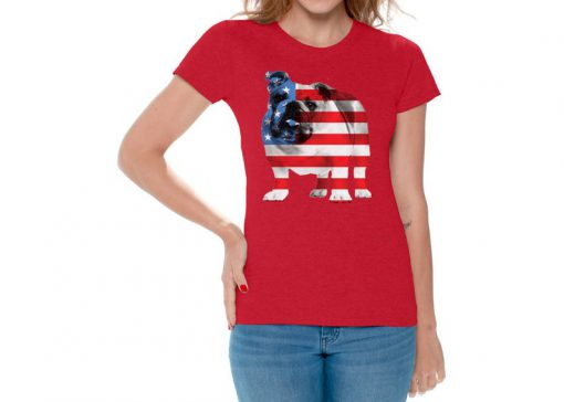USA Flag Bulldog T shirt