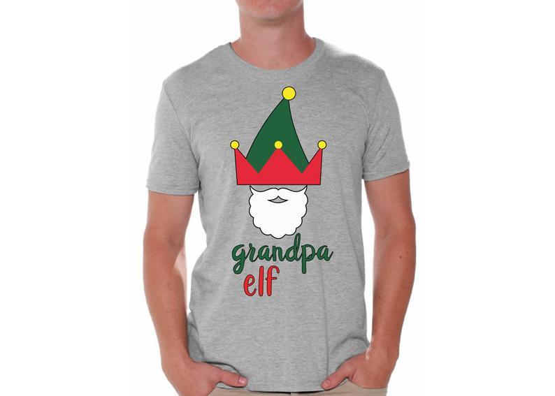 Ugly christmas shirts for men xmas elf grandpa tshirt