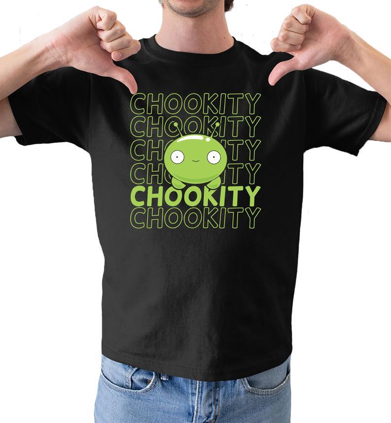 Mooncake chookity inspired funny unisex mens comedy black tshirt