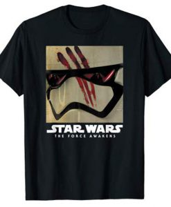 Star Wars Finn's Helmet Episode 7 Blood on Mask T-Shirt