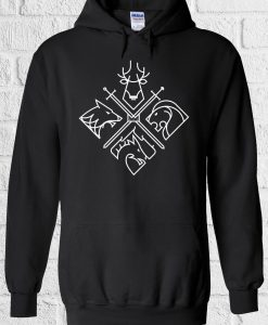 4 Houses Game Of Thrones Minimal Hoodie
