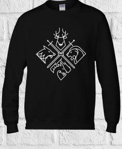 4 Houses Game Of Thrones Minimal Sweatshirt